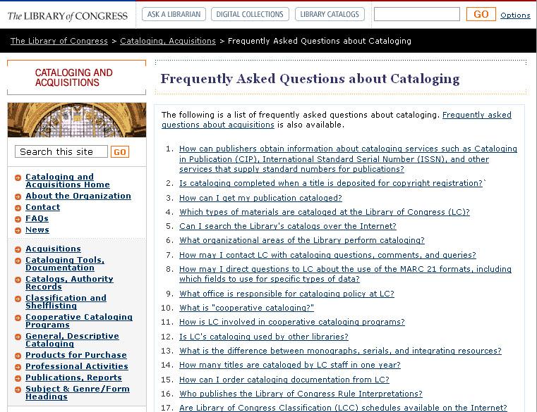 LOC_Cat_FAQs_Old