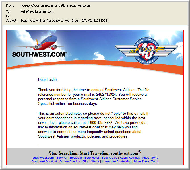 Southwest_E-Mail_March2011